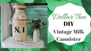 Dollar Tree  DIY Vintage Milk Canister