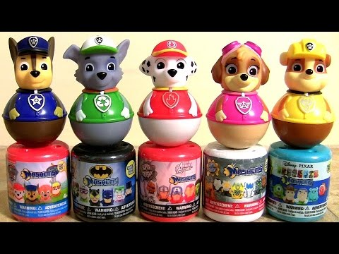 Paw Patrol Weebles Wobble Mashems & Fashems Collection - YouTube
