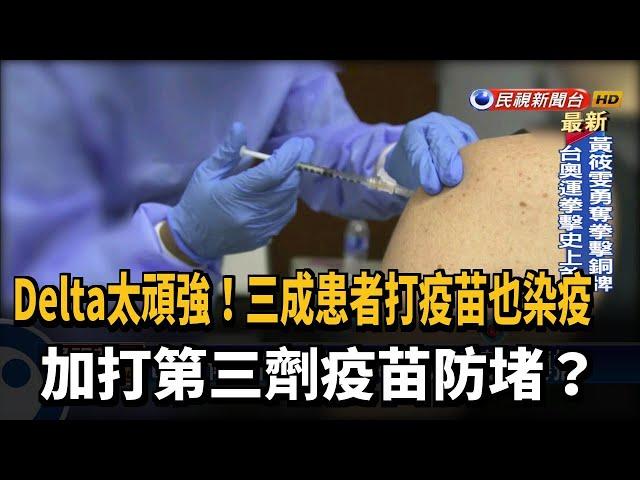 Delta可能氣溶膠傳播 加打第三劑疫苗防堵?-民視台語新聞