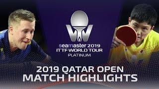 Tomokazu Harimoto vs Mattias Falck | 2019 ITTF Qatar Open Highlights (1/4)