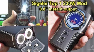 Sigelei Top 1 230W Mod | Unboxing and First Trail | Blitz Ghoul BF RDA