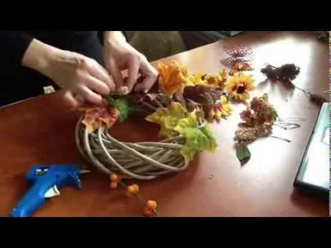 b2ccfabf9 DIY: how to make a wreath * jesenný veniec - YouTube