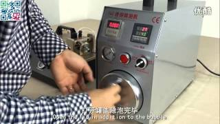 2015 New design  2 in1 air bubble remove machine mini version with built-in air compressor