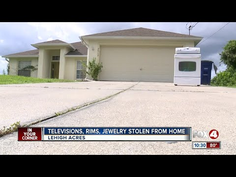 TVs, rims, jewelry stolen from Lehigh Acres home