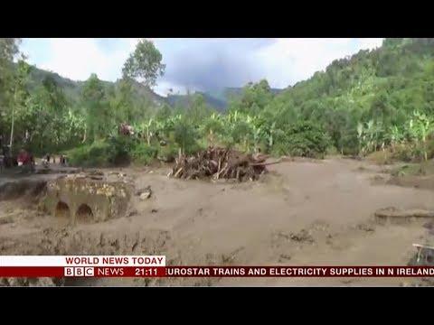 Extreme weather 2018 - Landslides after heavy rains (Uganda) - BBC News - 12th October 2018