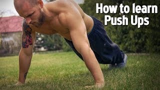 How to learn Push ups for Beginners