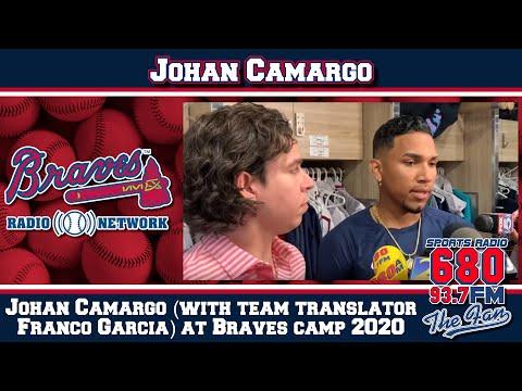 Johan Camargo (with Team Translator Franco Garcia) At Braves Camp 2020