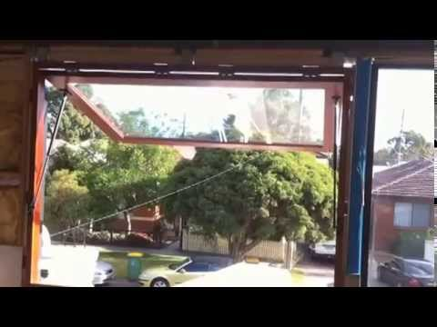 Large Windows Open Easily With Gas Struts Youtube