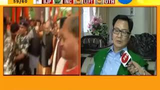 Delhi: Union Minister Kiren Rijju Exclusively talked with ZEE 24 KALAK on North East Election 2018