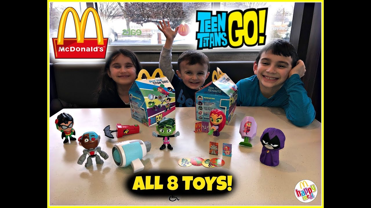 Mcdonalds Teen Titans Go Happy Meal Toys March 2019 All