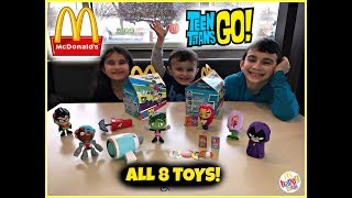 MCDONALDS Teen Titans Go! Happy Meal Toys! March 2019! ALL 8 TOYS!