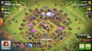 Clash of Clans | TH9 VS max TH11 - 1 Star Strategy (Baby Dragon) | push to Titan 1 League |