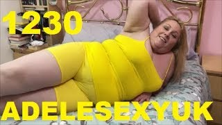 ADELESEXYUK TRYING ON MY NEW YELLOW SHORTS FOR MY GYM SESSION