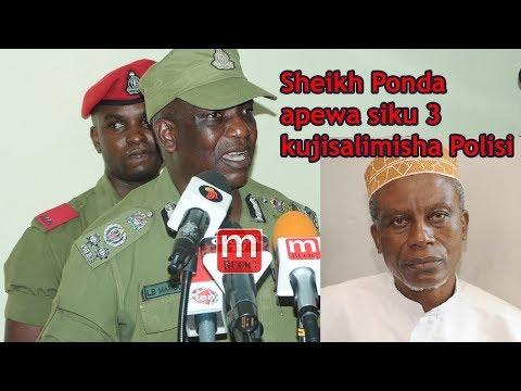 Sheikh Ponda apewa siku 3 kujisalimisha Polisi
