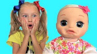 Говорящая кукла Baby Alive хочет кушать Сборник лучших видео от Super Polina