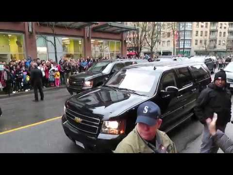 WOW Prime Minister Justin Trudeau's Motorcade in Vancouver, Canada