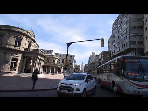 Video walk from Downtown to Old City, Montevideo