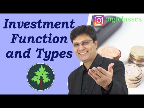 Investment Function and Types of Investment in Hindi