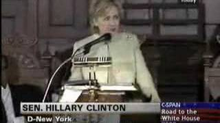 "Hillary Quoting James Cleveland - ""I Don"