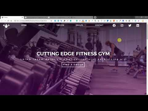 Gym Website Template | Fitness And Gym Complete Website Template | Responsive Web Template