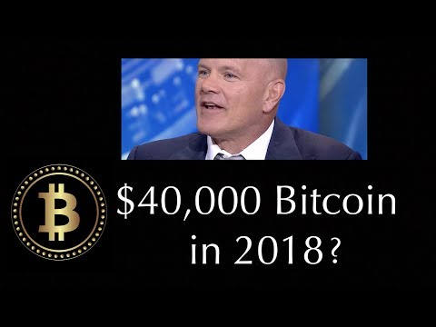 Mike Novogratz Says BItcoin Price Could Reach $40,000 in 2018 Ethereum to $1500