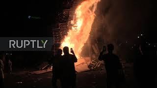 UK: Bonfires lit for 12th of July in Belfast