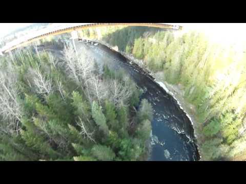 Pont rivière famine St-Georges Autoroute 73 vol FPV Gopro