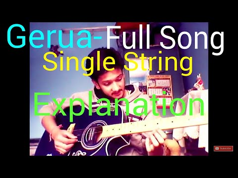 Gerua Single String Guitar Tabs LESSON For BEGINNERS Arijit Singh ...