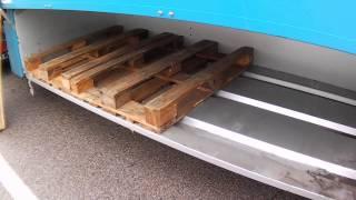 Дальнобой по Европе.Как правильно сложить европалеты в палетный ящик прицепа.