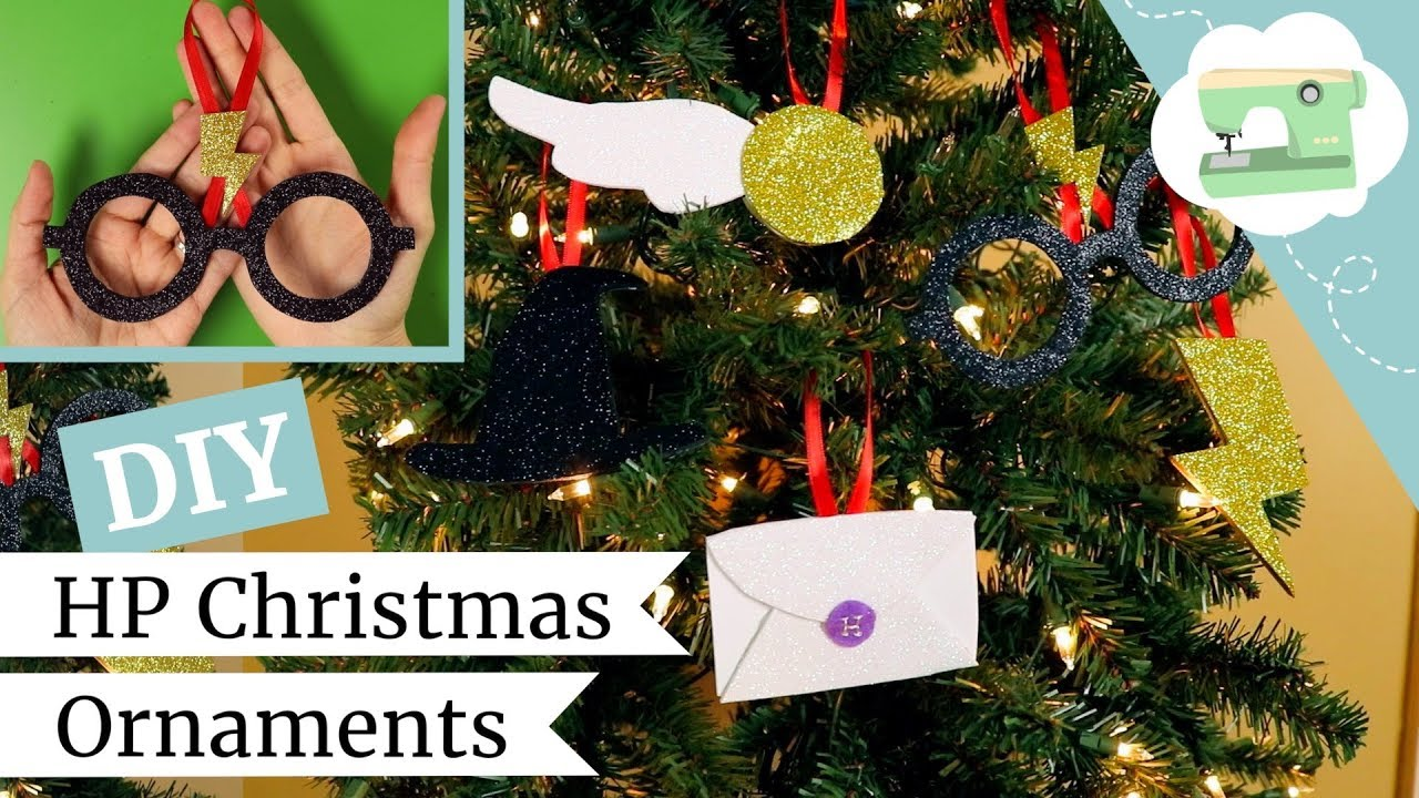 Make 5 Harry Potter Christmas Ornaments Easy Diy Holiday Decor Ideas Laurenfairwx