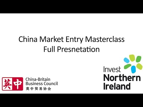 China Market Entry Masterclass | Full Presentation | February 2016