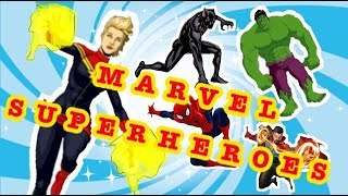 CAPTAIN MARVEL- SUPERHEROES | games on YouTube for kids | animation channel
