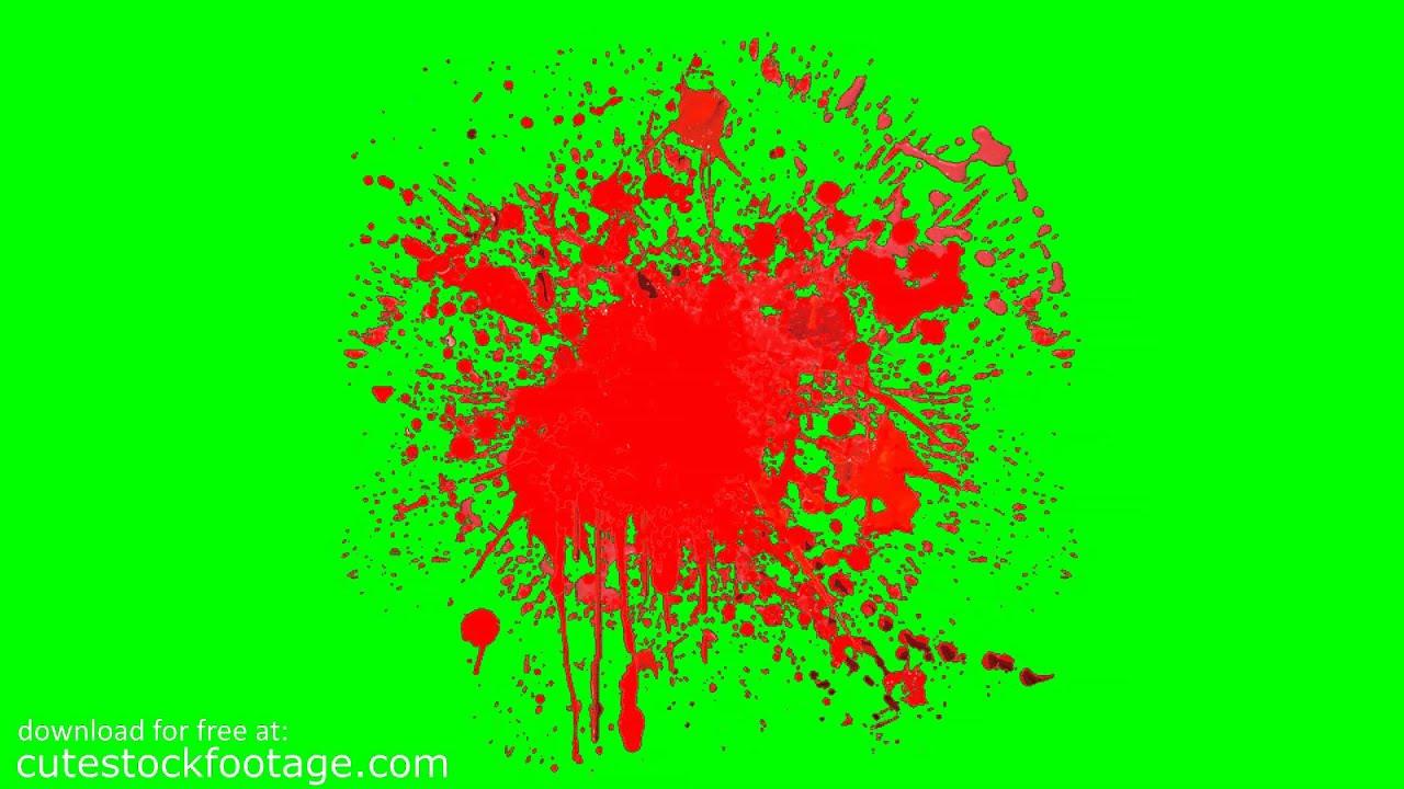 Blood splatter 10 hd chroma key footage youtube