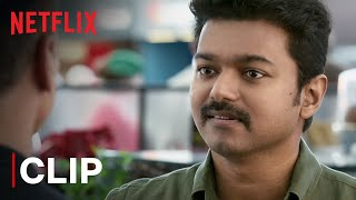 Thalapathy Vijay Mass Airport Scene   Mersal   Tamil Film   Netflix India