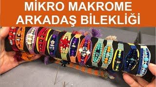 How to make micro macrame friend bracelet
