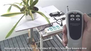 Table de levage d'actionneur linéaire CC 12V 500N par télécommande RF