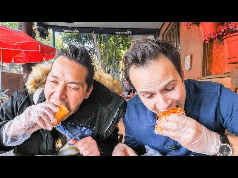 INSANE Street Food TOUR in Mexico | SCORPION Salad Challenge, BEST Mexican Sandwich + Chicken Feet!