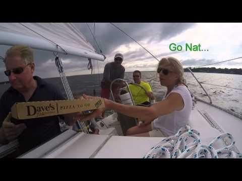 Friends Sailing Video 8 15, E. Greenwich, Rhode Island. Ocean, sunset.