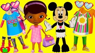 Disney Doc McStuffins and Minnie Mouse Fashion Dress Up Mix and Match Wrong Clothes