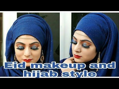 Eid Makeup and Hijab style 2019 || Eid makeup look|| 2019