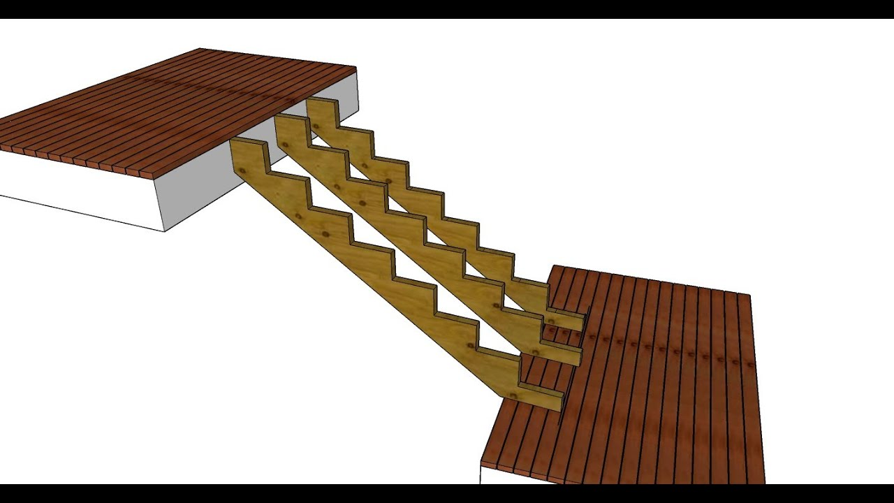Exceptionnel How To Install Stairs In Decks That Arenu0027t Parallel   Layout, Design And  Building   YouTube