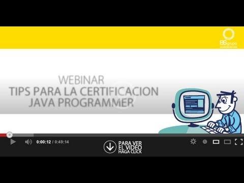 Webinar Tips para Certificación Java Programmer