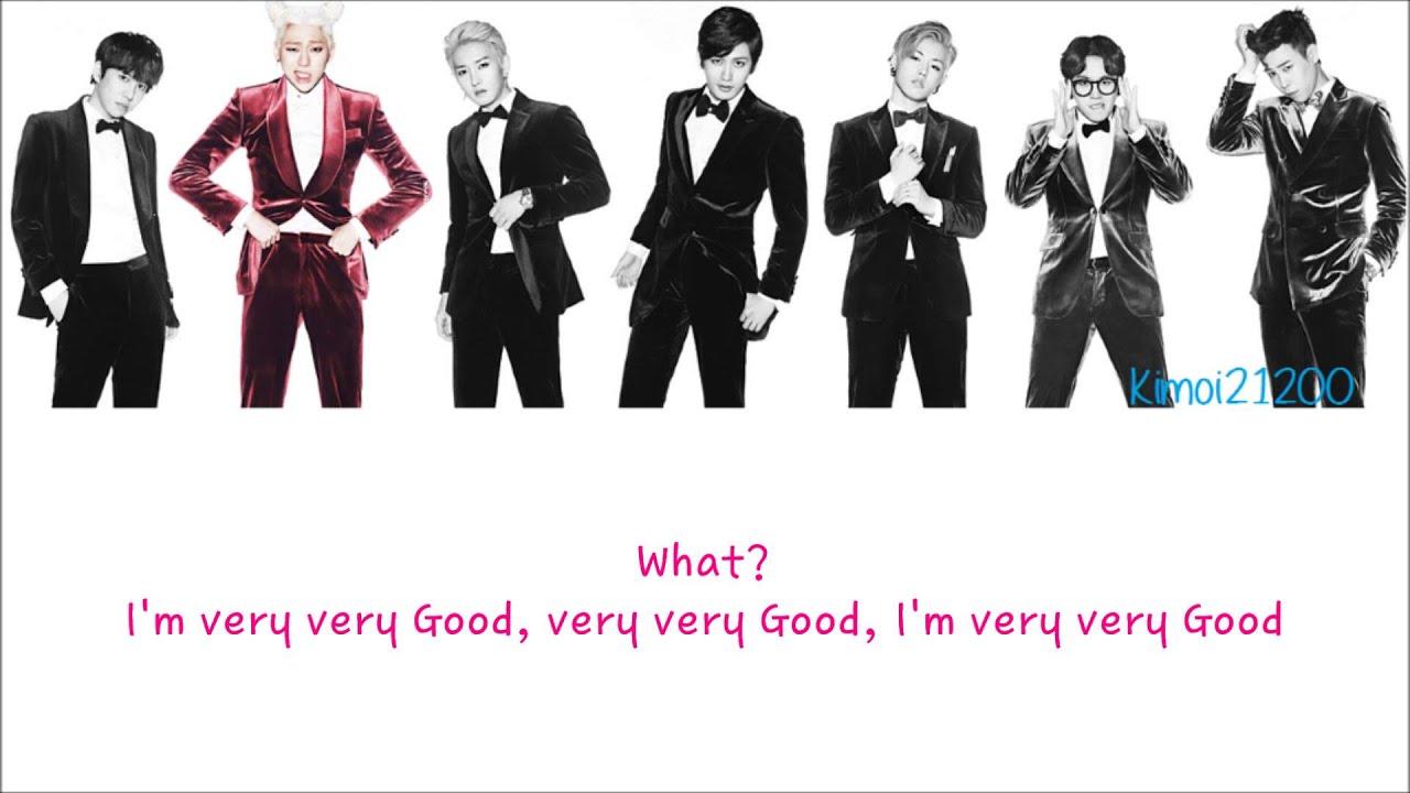 Block B Very Good Hangul Romanization English Color