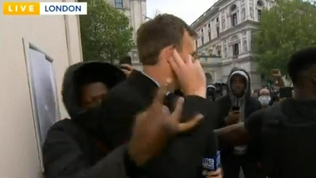 Australian journalists attacked live on air during Black Lives Matter protests in London