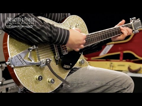 Gretsch Guitars Custom Shop Duo Jet '59 Bigsby Electric Guitar, Gold Sparkle