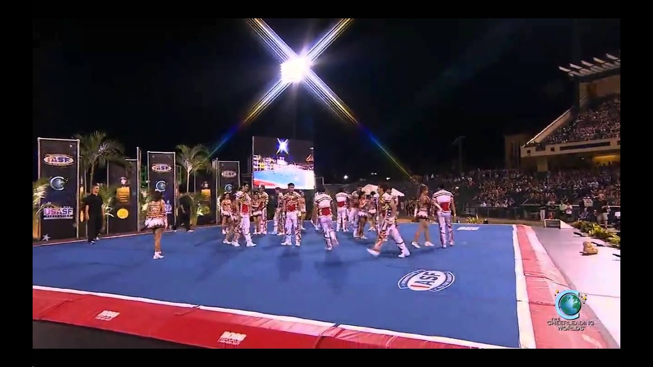 Bangkok University Cheerleading Team (Thailand) [2014 World Champion Encore] MultiCam