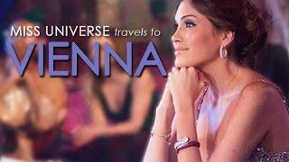 Miss Universe 2013 Gabriela Isler visits Vienna, Austria
