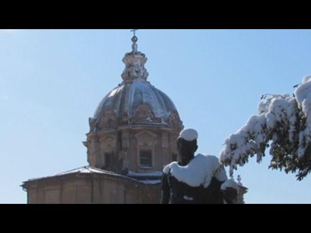 Roma, cubierta de blanco tras una intensa nevada