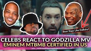 Celebrities React To Eminem Godzilla Music Video On Social Media, MTBMB Certified in the US