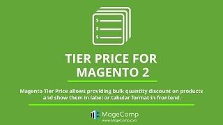 Magento 2 Tier Price by MageComp